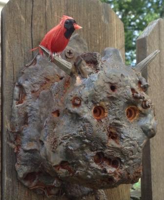 Garden Guardian with Cardinal